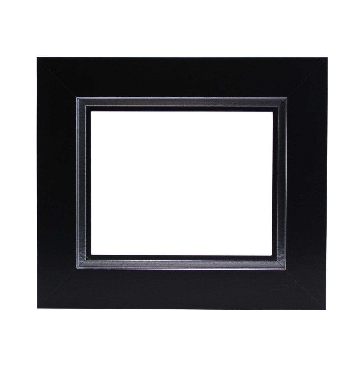 caisse plate noire filet argent cadre pour tableau. Black Bedroom Furniture Sets. Home Design Ideas